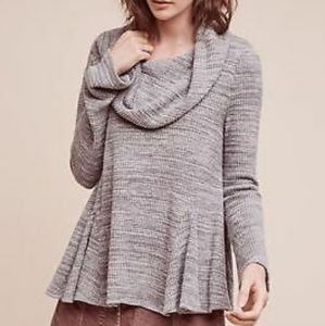 Anthropologie (postmark) waffle knit cowl neck top